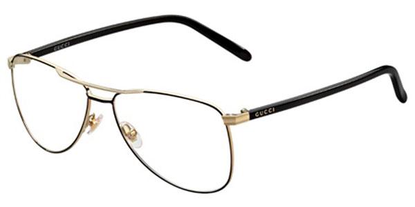 eb0fb4c58a Gucci Womens Eyeglasses 4218 WRU 14 metal Aviator Black Frames ...