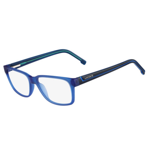 Eyeglasses Frame Square : Lacoste Unisex Eyeglasses L2692-424 Satin Blue Square Full ...