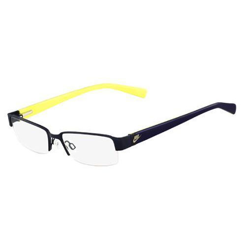 Nike Mens Eyeglasses 5568 404 Denim Blue Semi Rimless