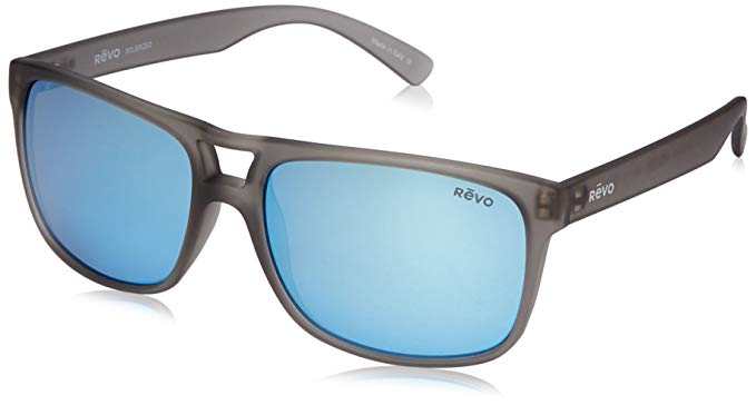 bd0f39f26cc Details about Revo Holsby 101900BL Polarized Sunglasses Matte Grey Crystal  Blue Water 58 mm