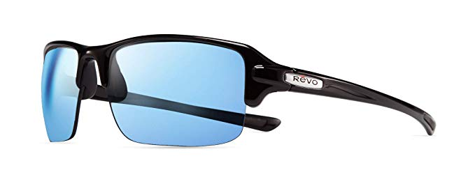 80f3e7c1ef757 Details about Revo RE 4041X 01 BL Abyss Polarized Wrap Sunglasses Wrap