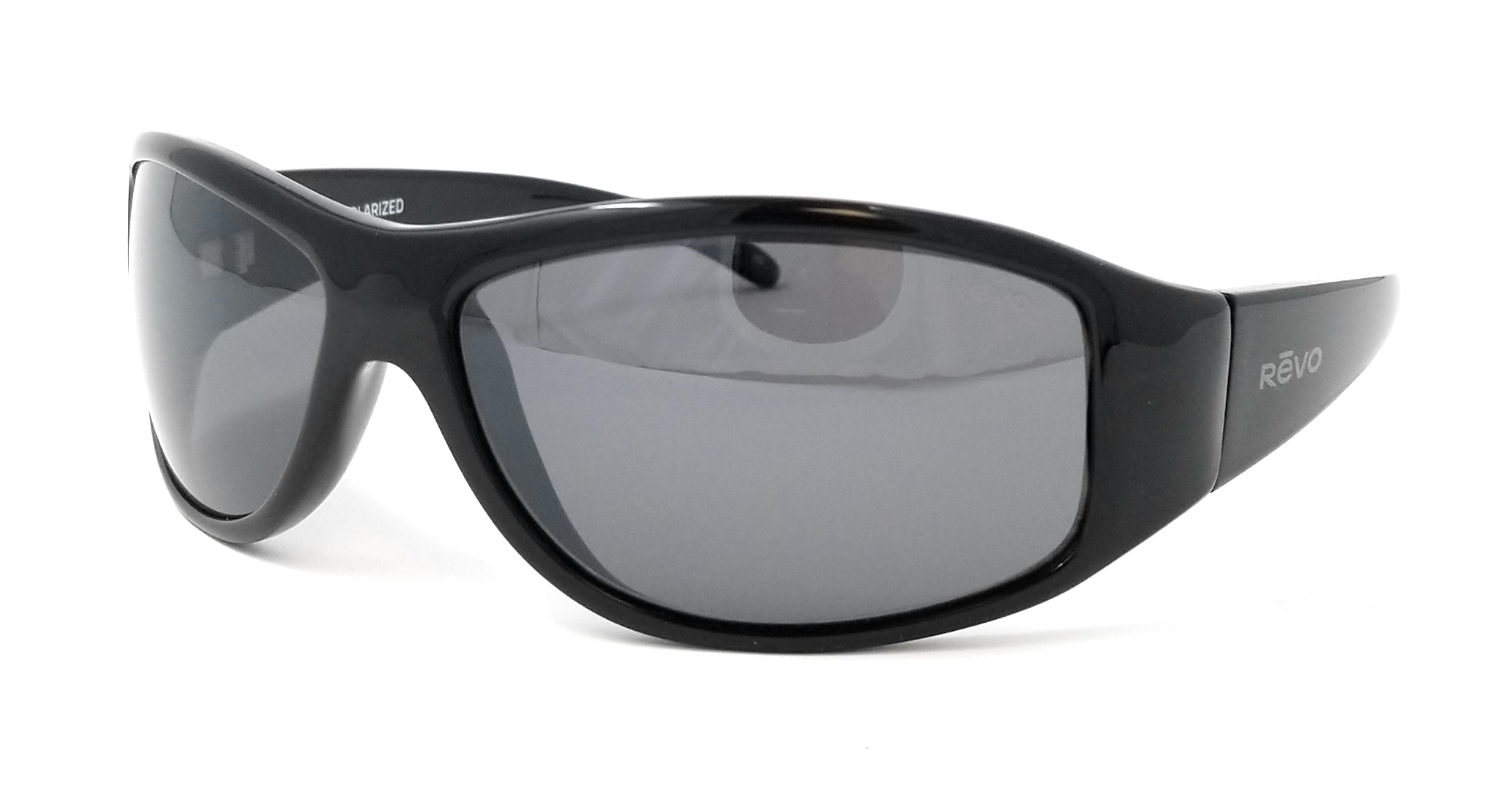 1b9f08a333 Revo Unisex Revo RE 5014 01 GY Tander Polarized Wraparound Sunglasses Black