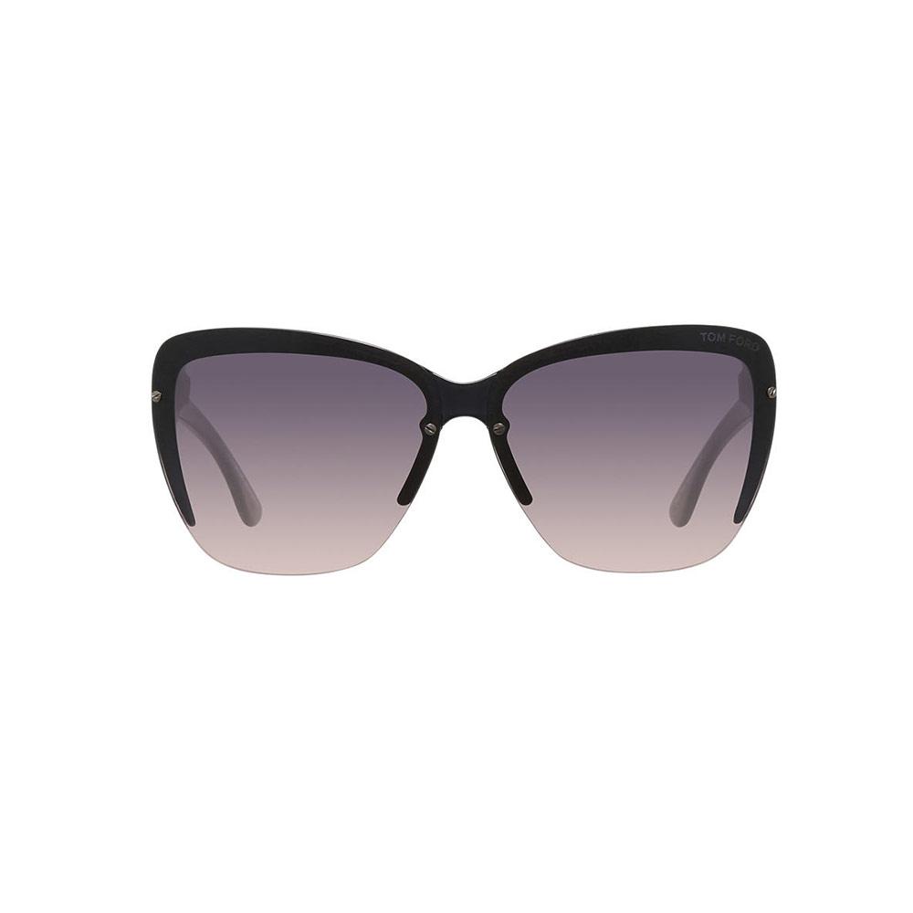 45846fb34e4fd Tom Ford FT0457-20B Womens Eyeglasses Cat Eye Dark Gray Smoke Gradient Lens