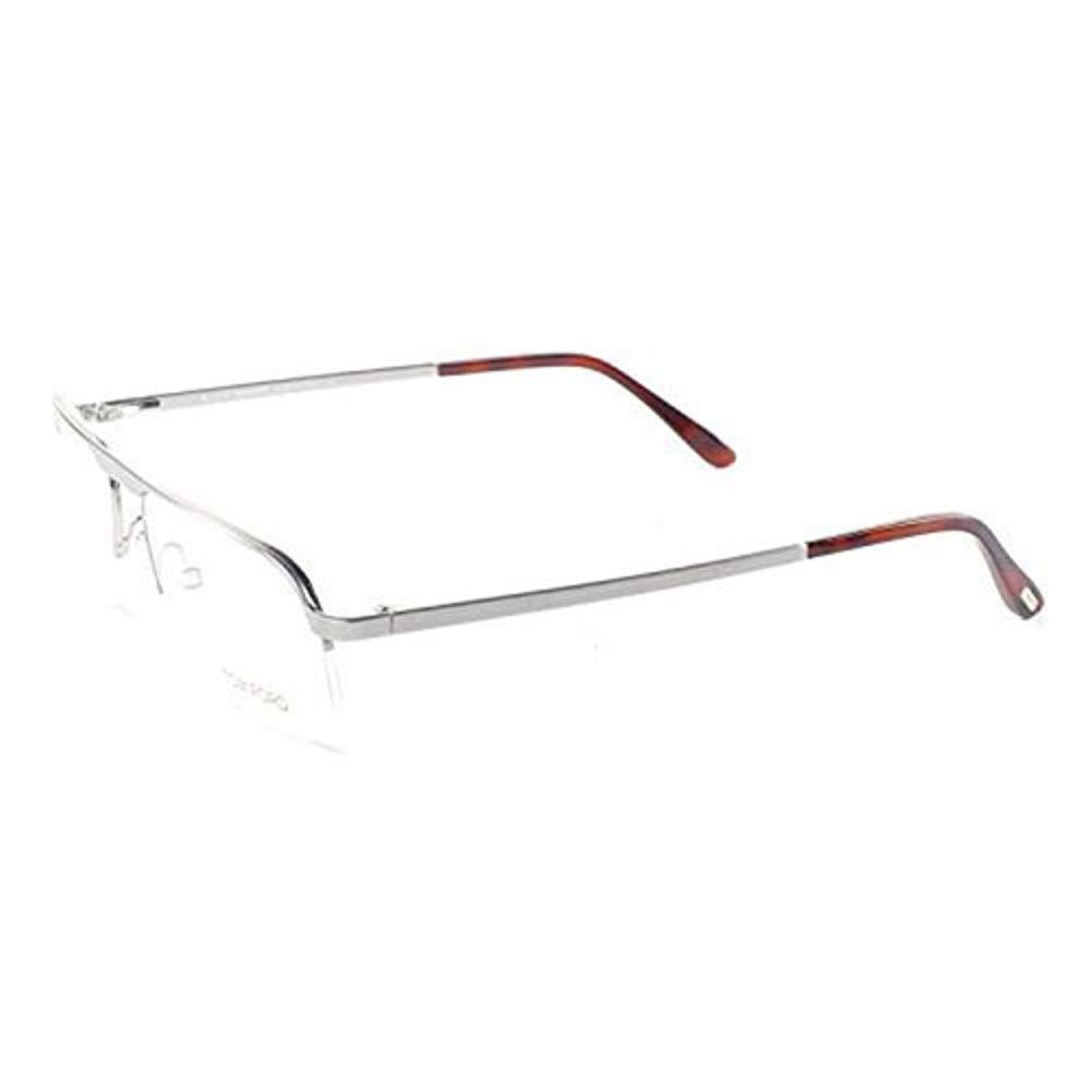 Tom Ford Mens Eyeglasses FT5168-019 Metal Semi-Rimless Shiney Silver Frames 9b69ec0654