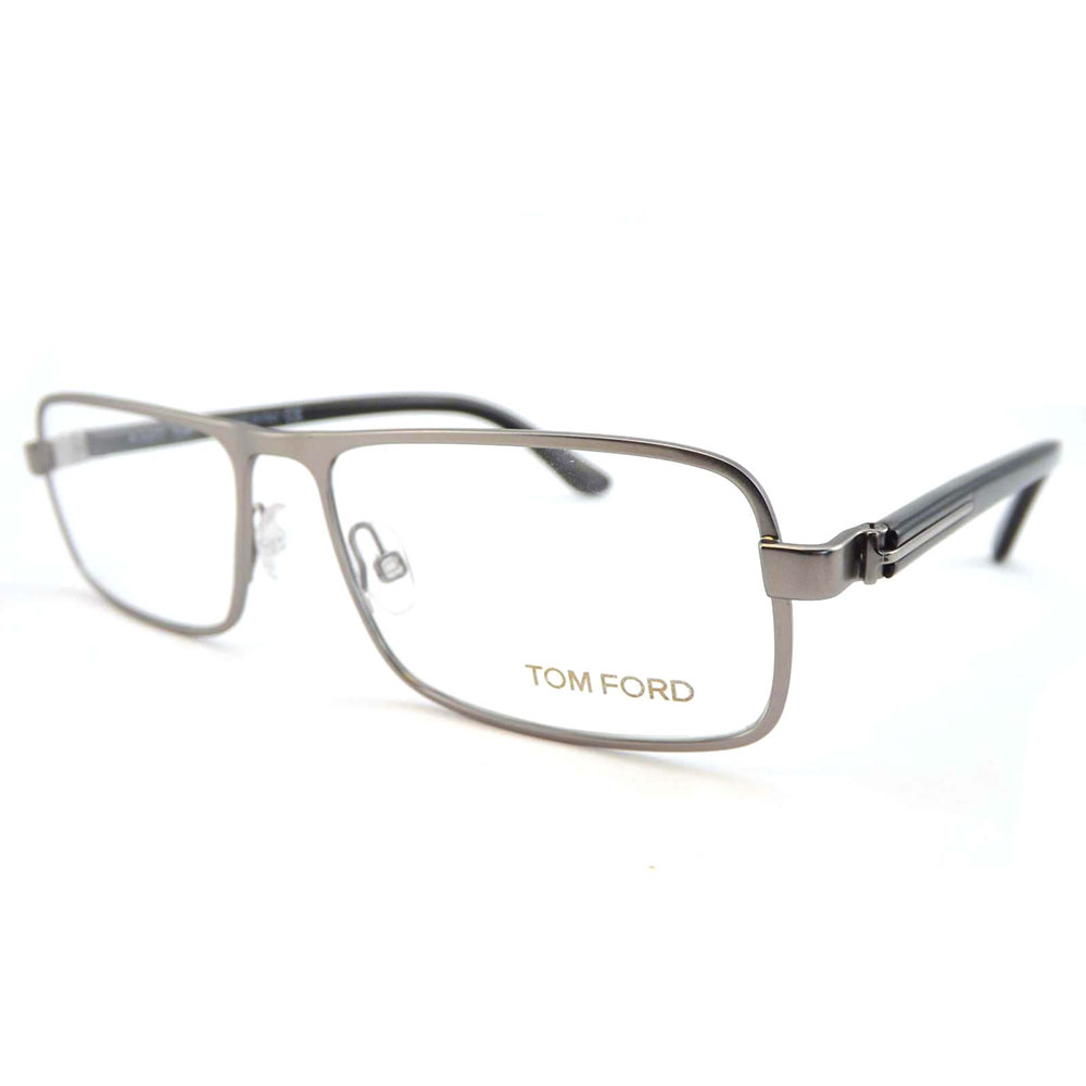 cca7b84bceaee8 Tom Ford Hommes Lunettes de Vue FT5201-013 Argenté Rectangle Complet ...