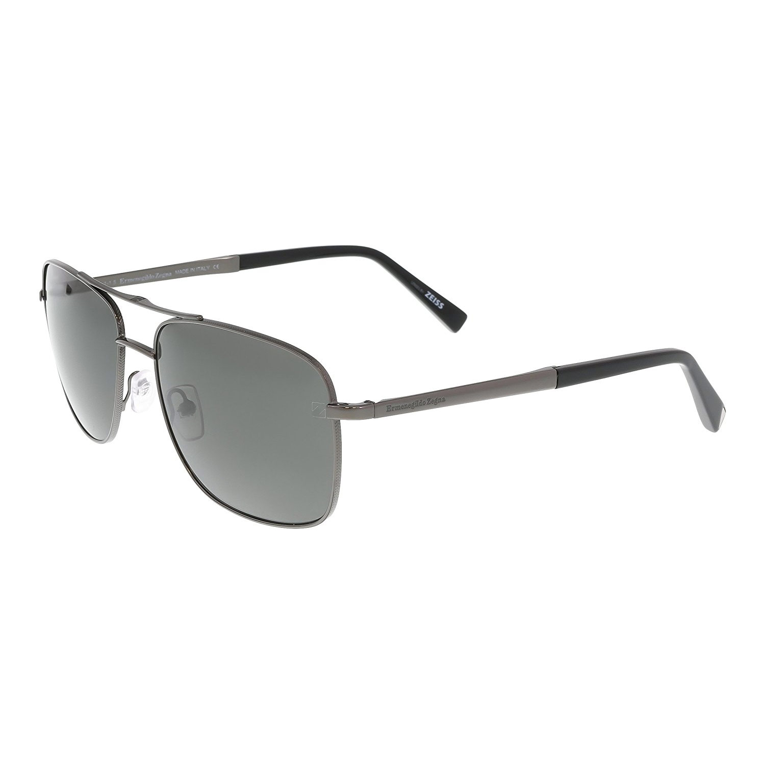 336866fb414 Details about Ermenegildo Zegna EZ0021-08D Mens Polarized Sunglasses Dark  Gunmetal