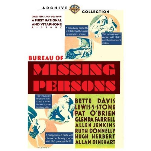 Bureau Of Missing Persons DVD Movie 1933 - Comedy Movies and DVDs
