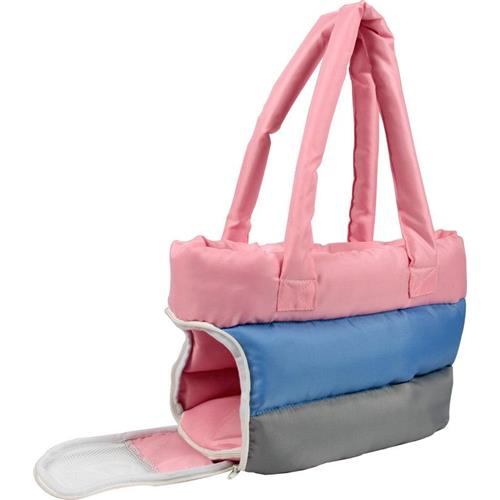 Bubble-Poly Tri-Colored insulated Pet Carrier, Pink, Blue,