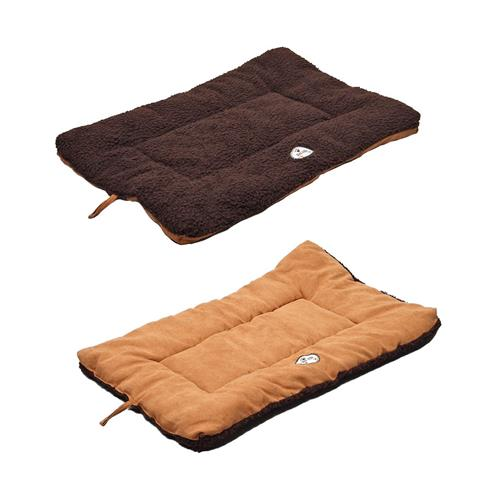 Eco-Paw Reversible Eco-Friendly Pet Bed, Brown And