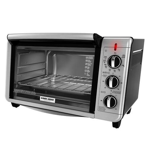 Black+Decker TO3230SBD 6-Slice Convection Toaster Oven, Black