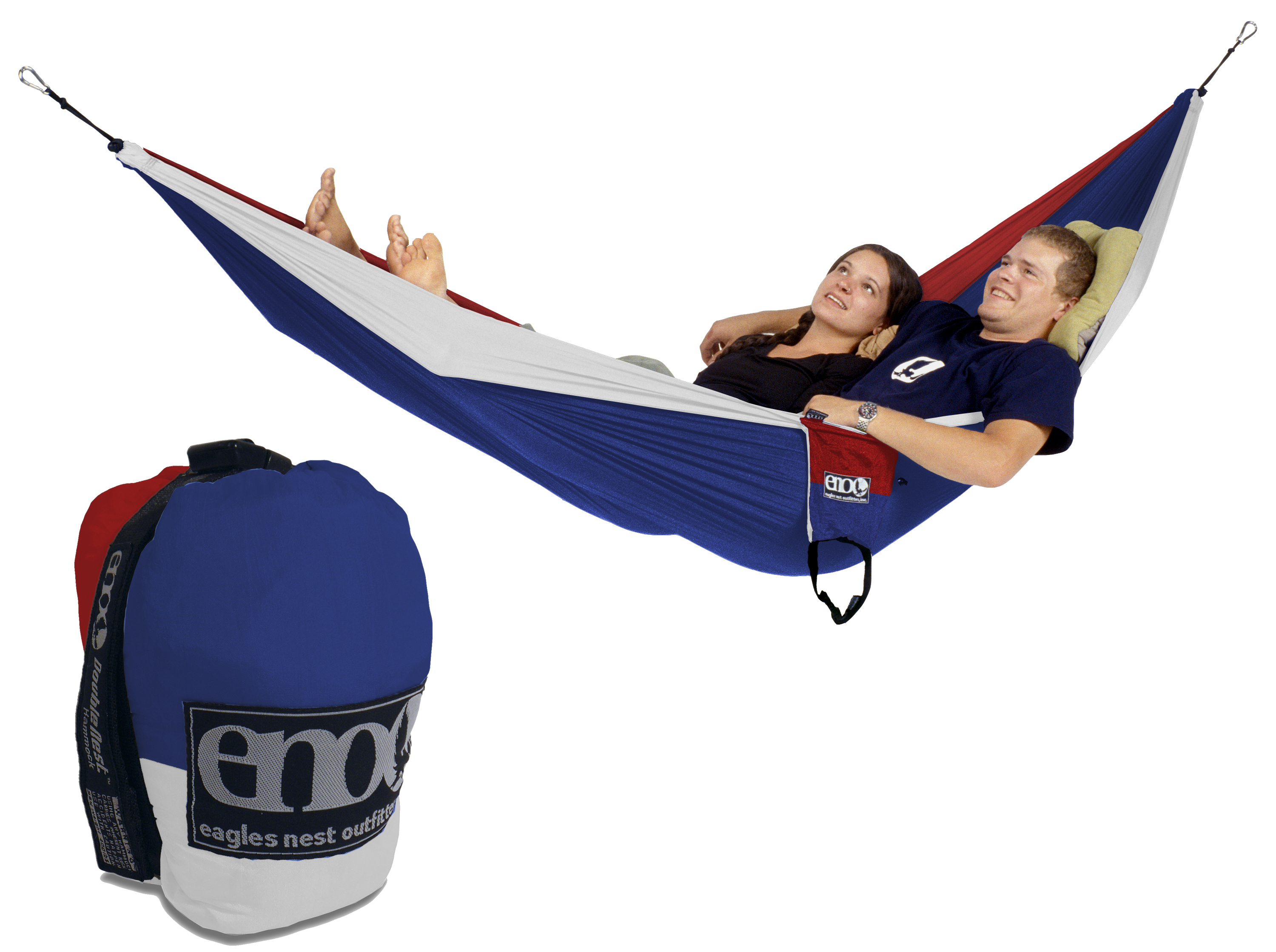 Eno Double Nest Hammock Patriot Red White Blue Two Person