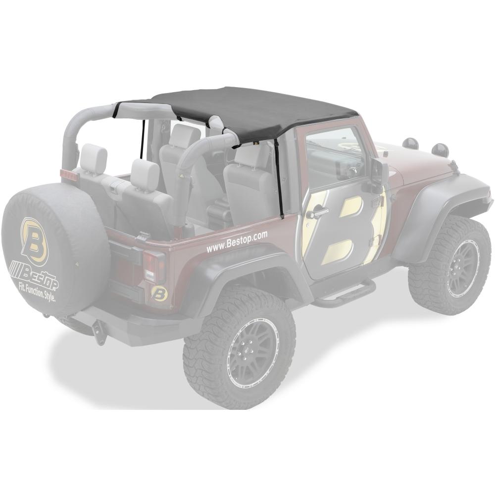 52586 11 bestop header bikini soft top mesh for jeep wrangler 2 dr 2010 2016 ebay. Black Bedroom Furniture Sets. Home Design Ideas