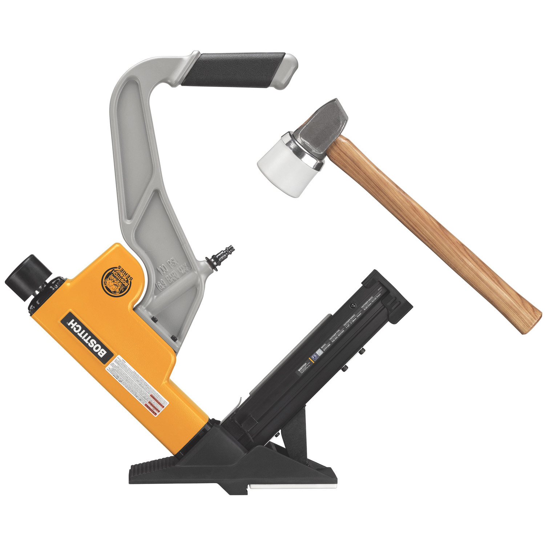Engineered Flooring Stapler: BOSTITCH BTFP12569 2-in-1 Pneumatic Flooring Tool Air