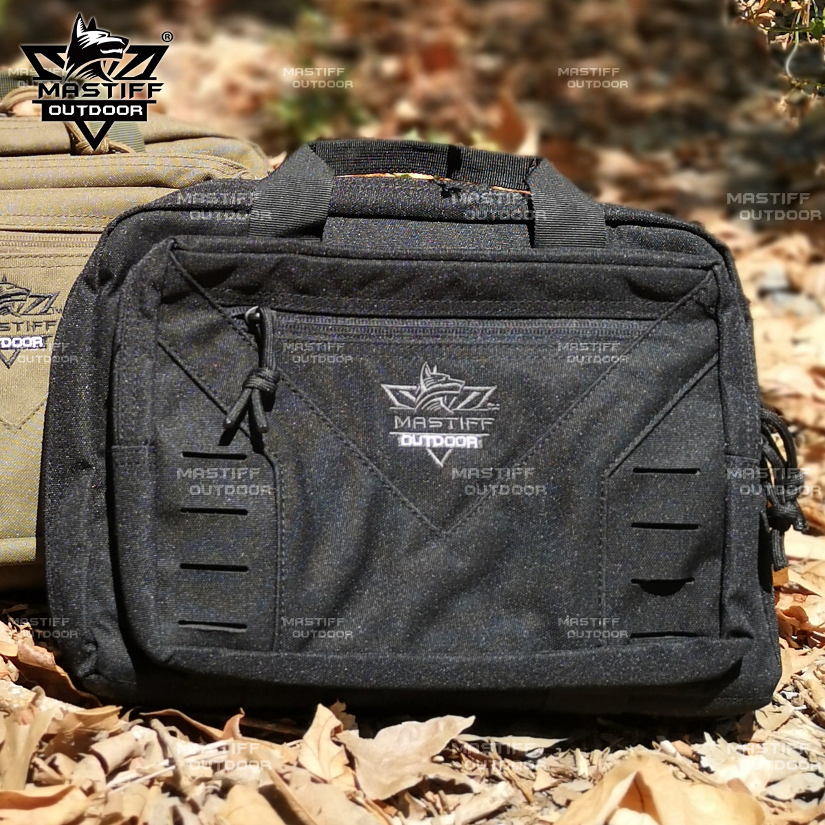 thumbnail 29 - Tactical-Pistol-Case-Handgun-Bag-Hunting-Shooting-Range-Magazine-Pouch