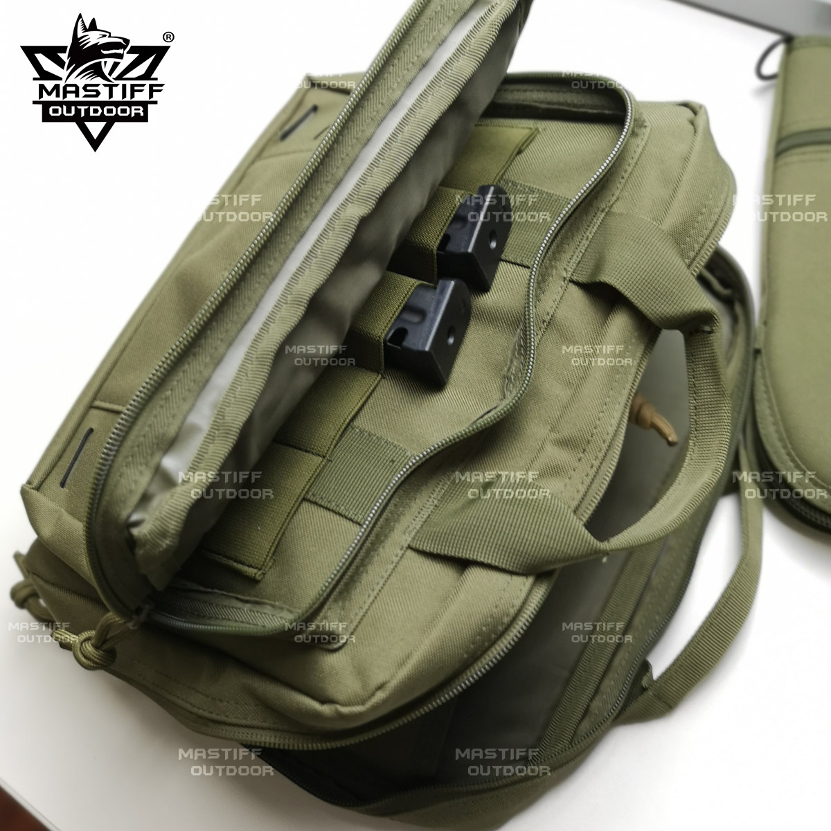 thumbnail 46 - Tactical-Pistol-Case-Handgun-Bag-Hunting-Shooting-Range-Magazine-Pouch