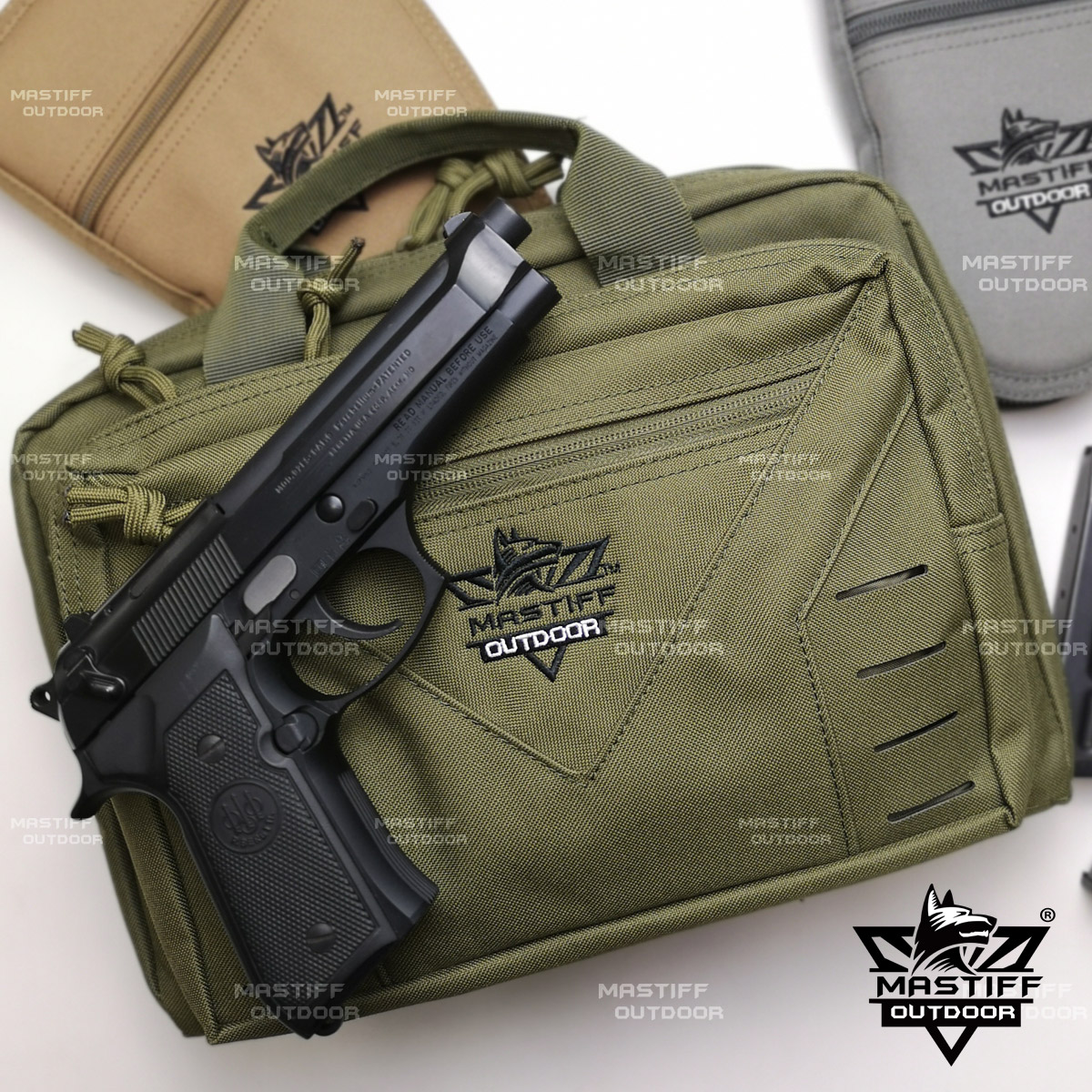 thumbnail 45 - Tactical-Pistol-Case-Handgun-Bag-Hunting-Shooting-Range-Magazine-Pouch