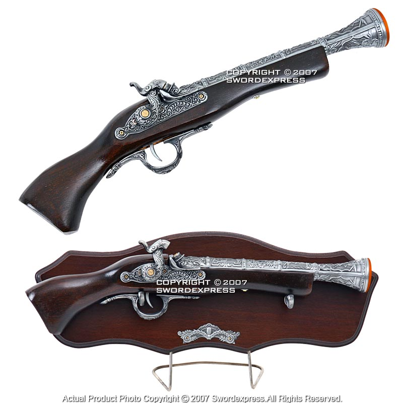 Flintlock blunderbuss pistol, mid- to late 1700s, German ...