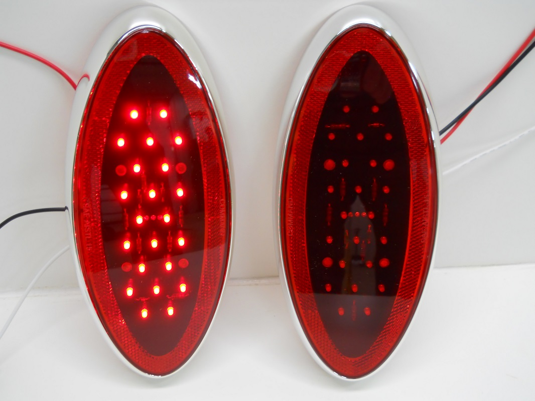975 Oval Red Led Rv Camper Trailer Stop Turn Brake Tail Lights Also Along With Wiring Chrome Bezel