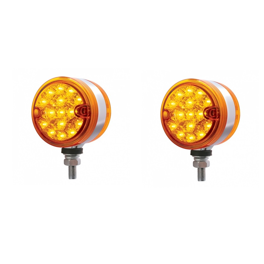United Pacific 39730 Red 13 Dual Function Reflector Double Face Oval Light-Amber /& Led//Clear Lens
