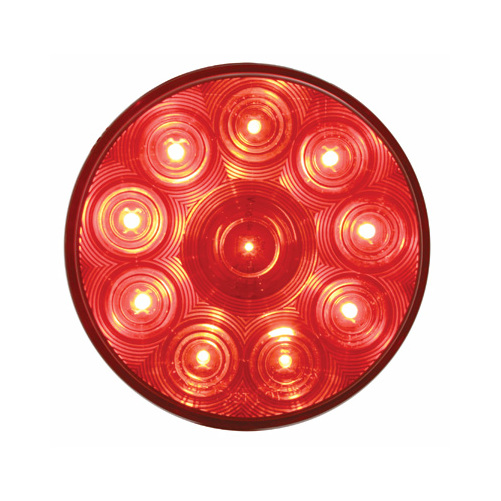 Red 10 Led 4 U0026quot  Round Trailer Truck Stop Turn Brake Tail