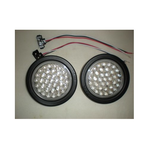 4 Quot Round Red 36 Led Truck Trailer Brake Stop Turn Tail