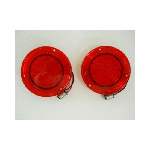 Red Fleetside 1958-59 Chevy Truck LED Tail Light
