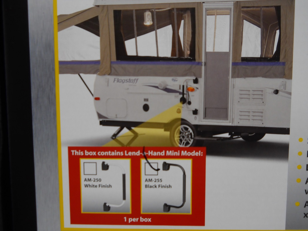 RV Camper Motor Home 5th Wheel Trailer Black Folding Door Entry Grab ...