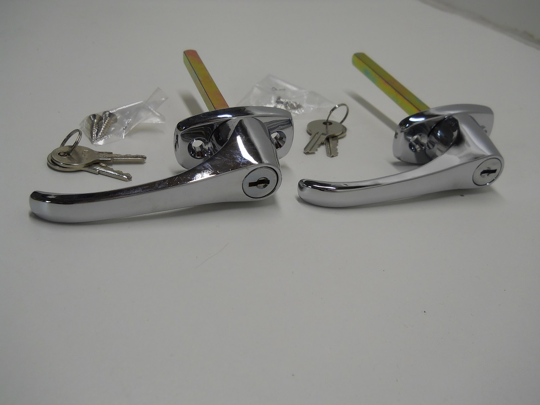 Chrome Truck Cap Cover Shell Topper Window L-Handle Lock Kits Twin Pack