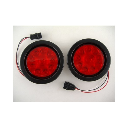 4 Quot Round Red 10 Led Trailer Truck Brake Stop Turn Tail