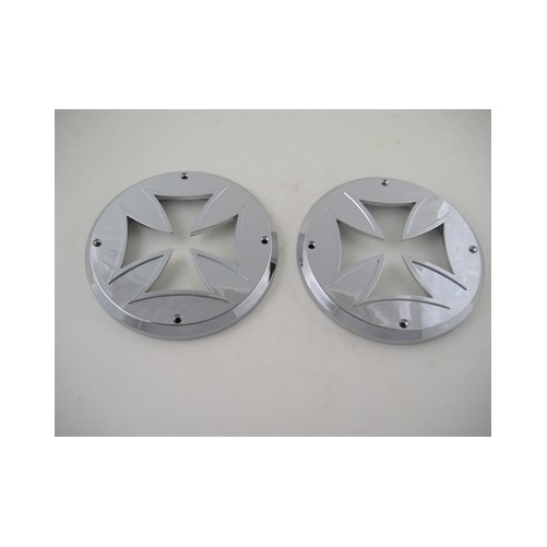 2 Round Chrome Bezels Covers 4 Quot Grommet Mounted Led