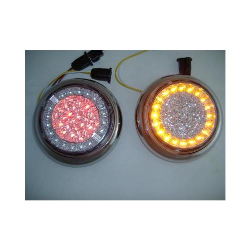 Euro Red Amber Led Combo Multi Function Round Stop Turn