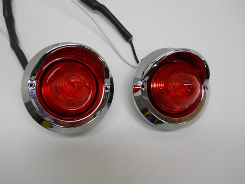2 Red 2 Quot Round 9 Led Beehive Mini Stop Turn Brake Tail