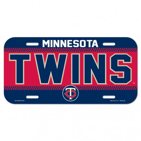 """Minnesota Twins Official MLB 6"""" x 12"""" License Plate Twins by Wincraft 86900715"""