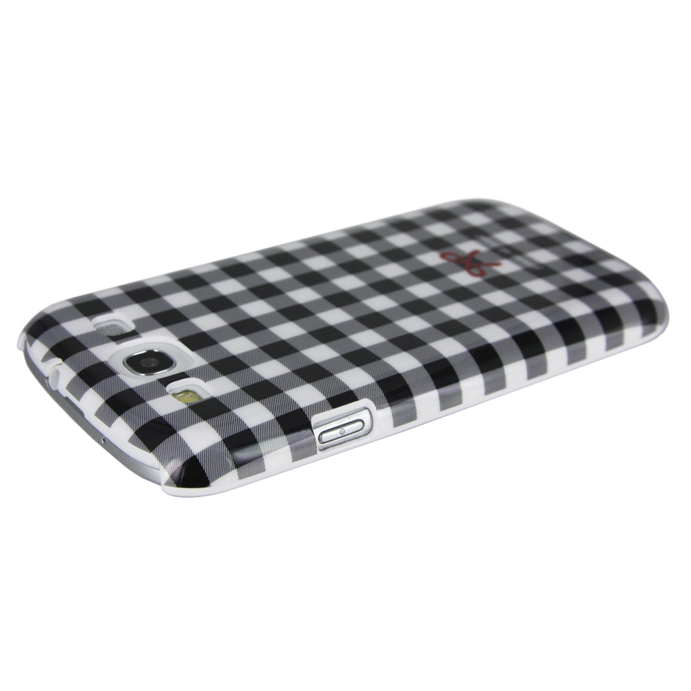 Femme Case for Galaxy S3 (Little Things, Black Plaid with Red Bow)