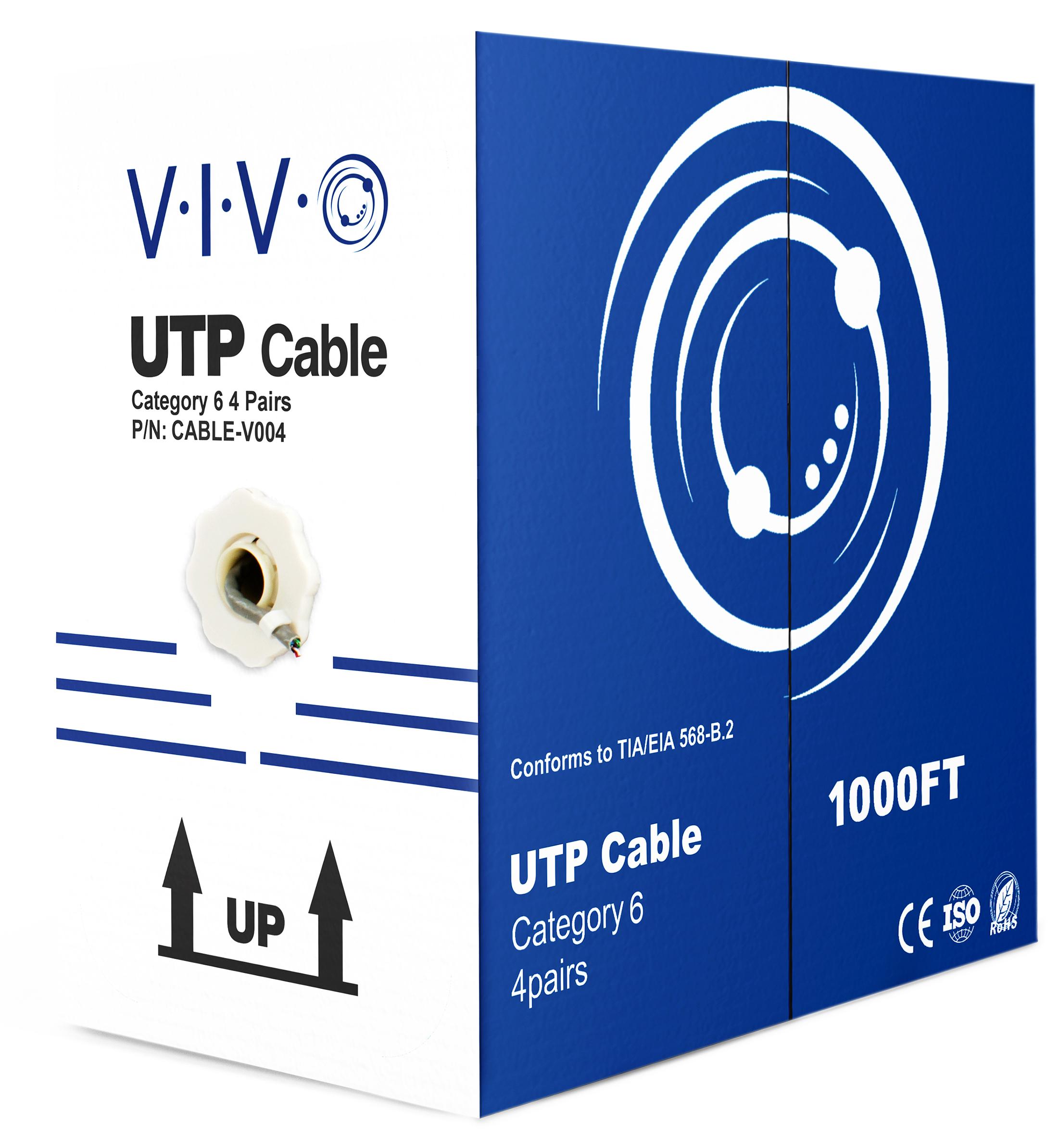New 1 000 Ft Bulk Cat6 Lan Ethernet Cable Wire Utp 1000ft Pull Box Cat 6 Grey 616983123997 Ebay