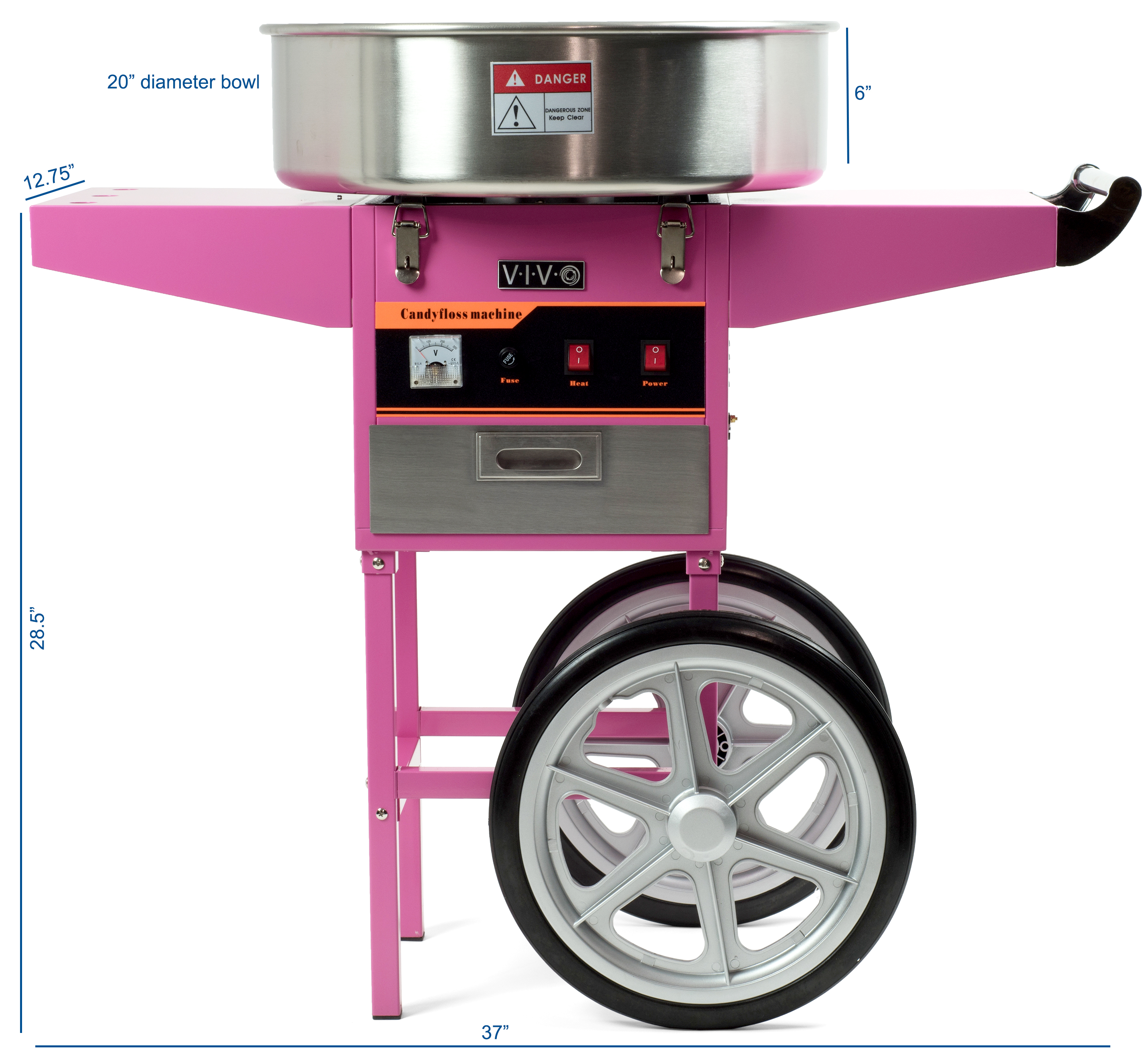 Electric Commercial Cotton Candy Machine / Floss Maker ...