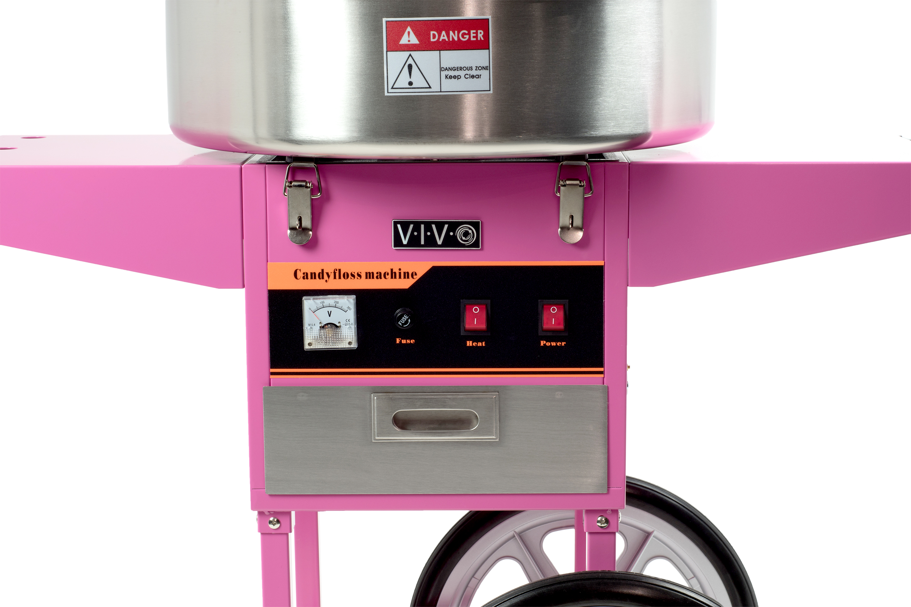 Electric Commercial Cotton Candy Machine Floss Maker Pink Cart Stand Vivo Ebay