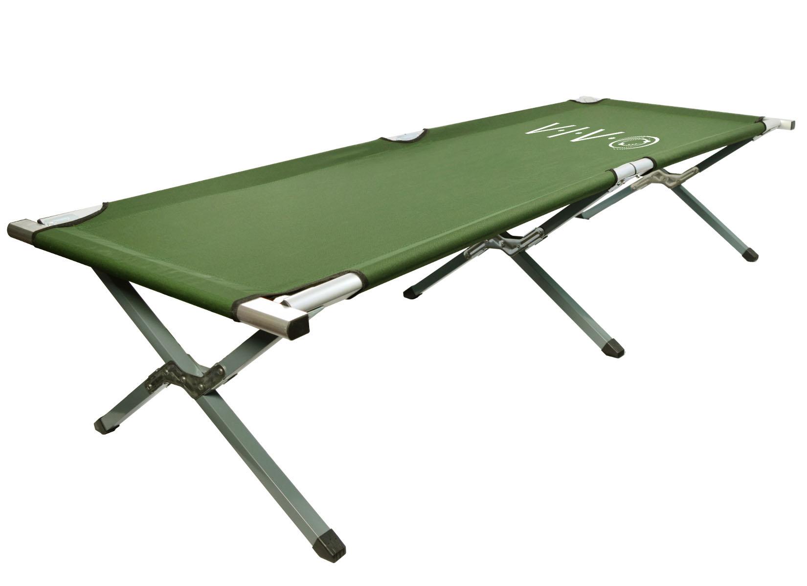 - Vivo Grün Camping Feldbett, Zusammenklappen Bett, Military Style Wiege,  Tragetasche Enthalten EBay