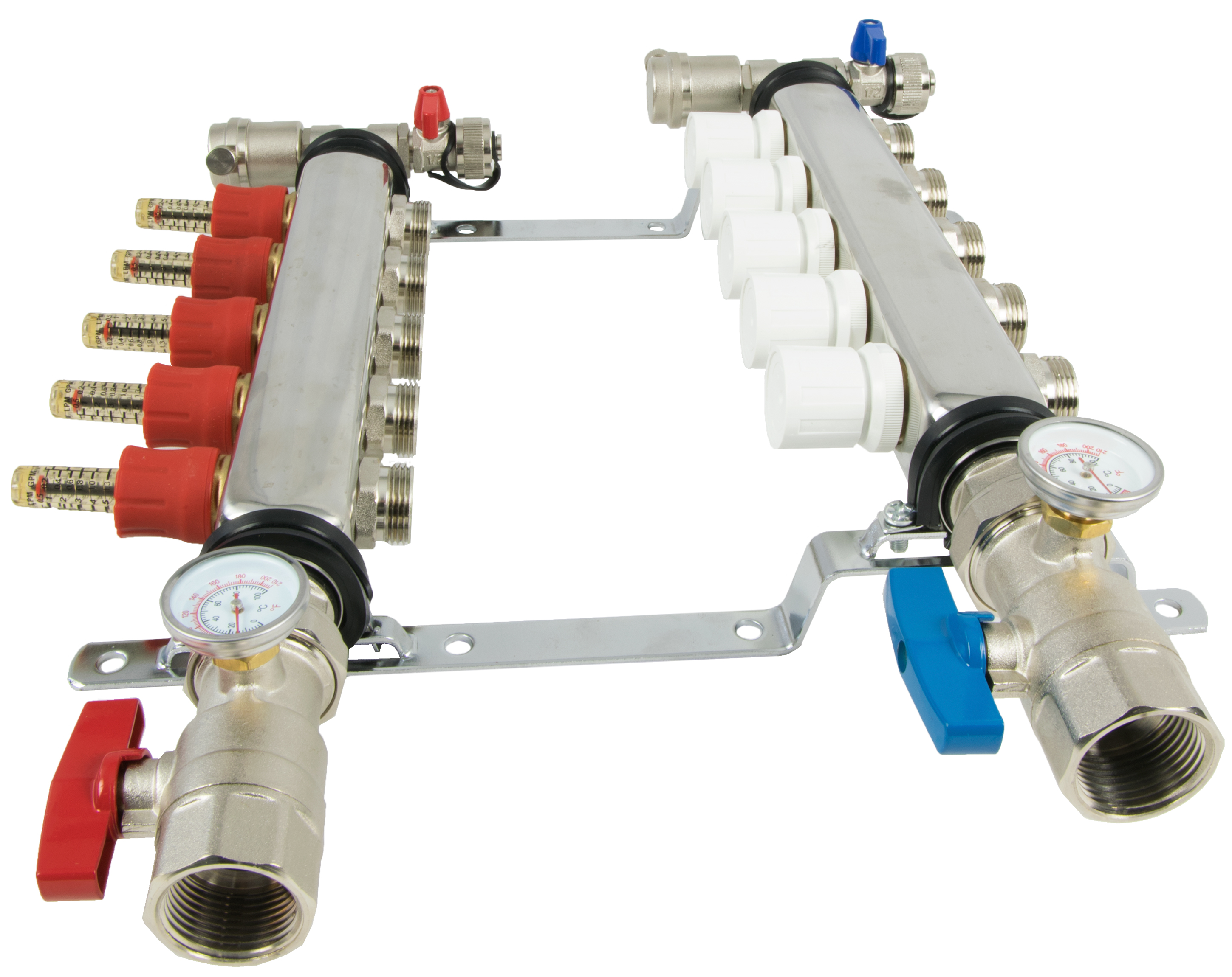 Loop branch quot pex manifold stainless steel radiant