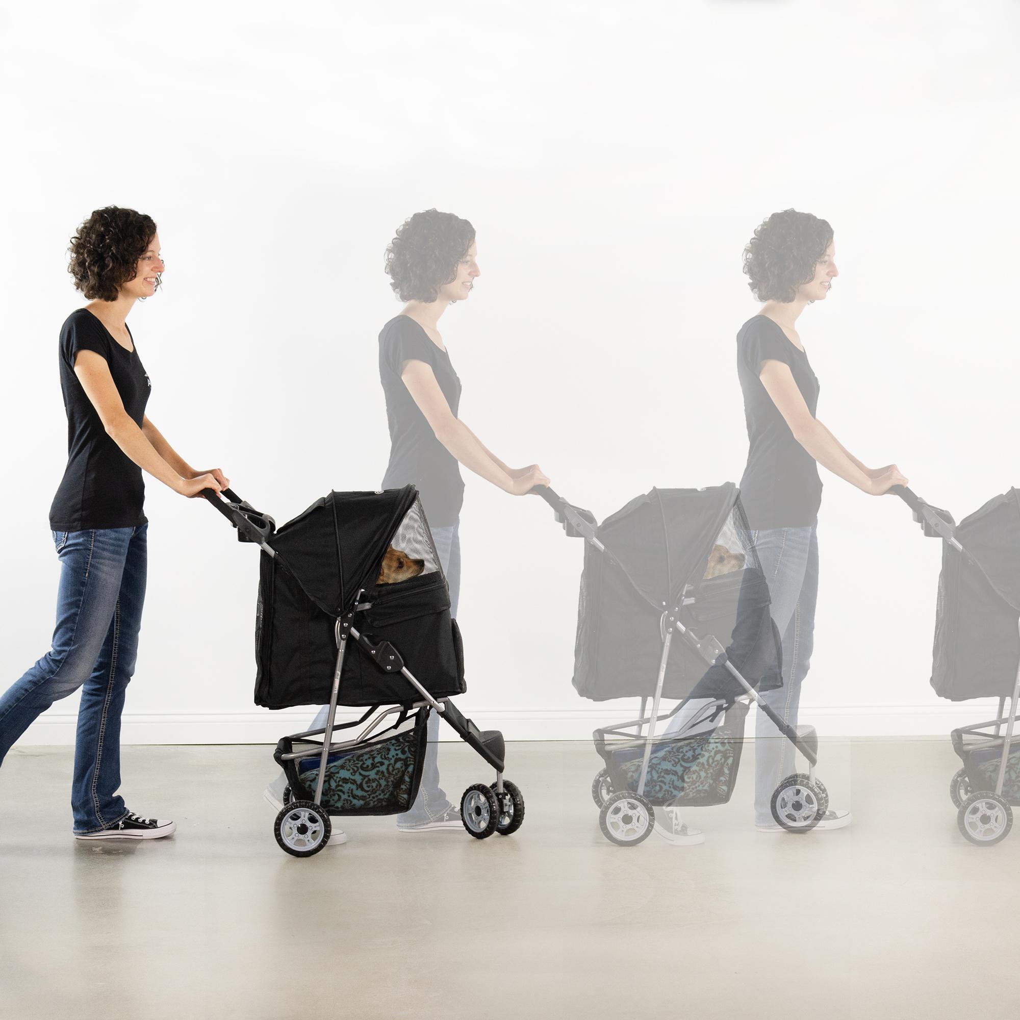 thumbnail 6 - VIVO Three Wheel Pet Stroller / Cat & Dog Foldable Carrier Strolling Cart