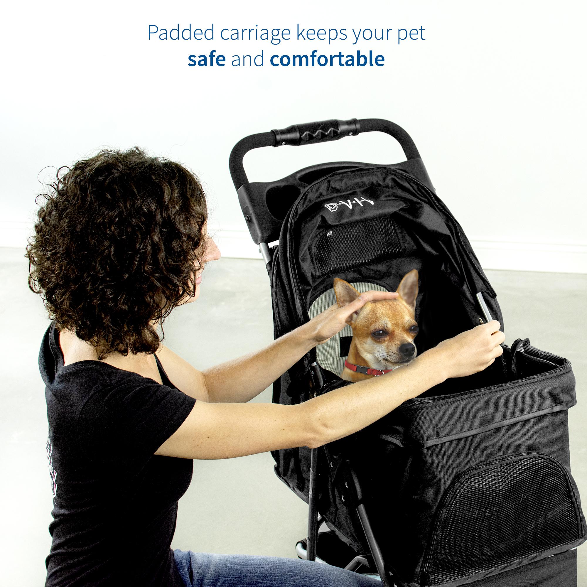 thumbnail 7 - VIVO Three Wheel Pet Stroller / Cat & Dog Foldable Carrier Strolling Cart