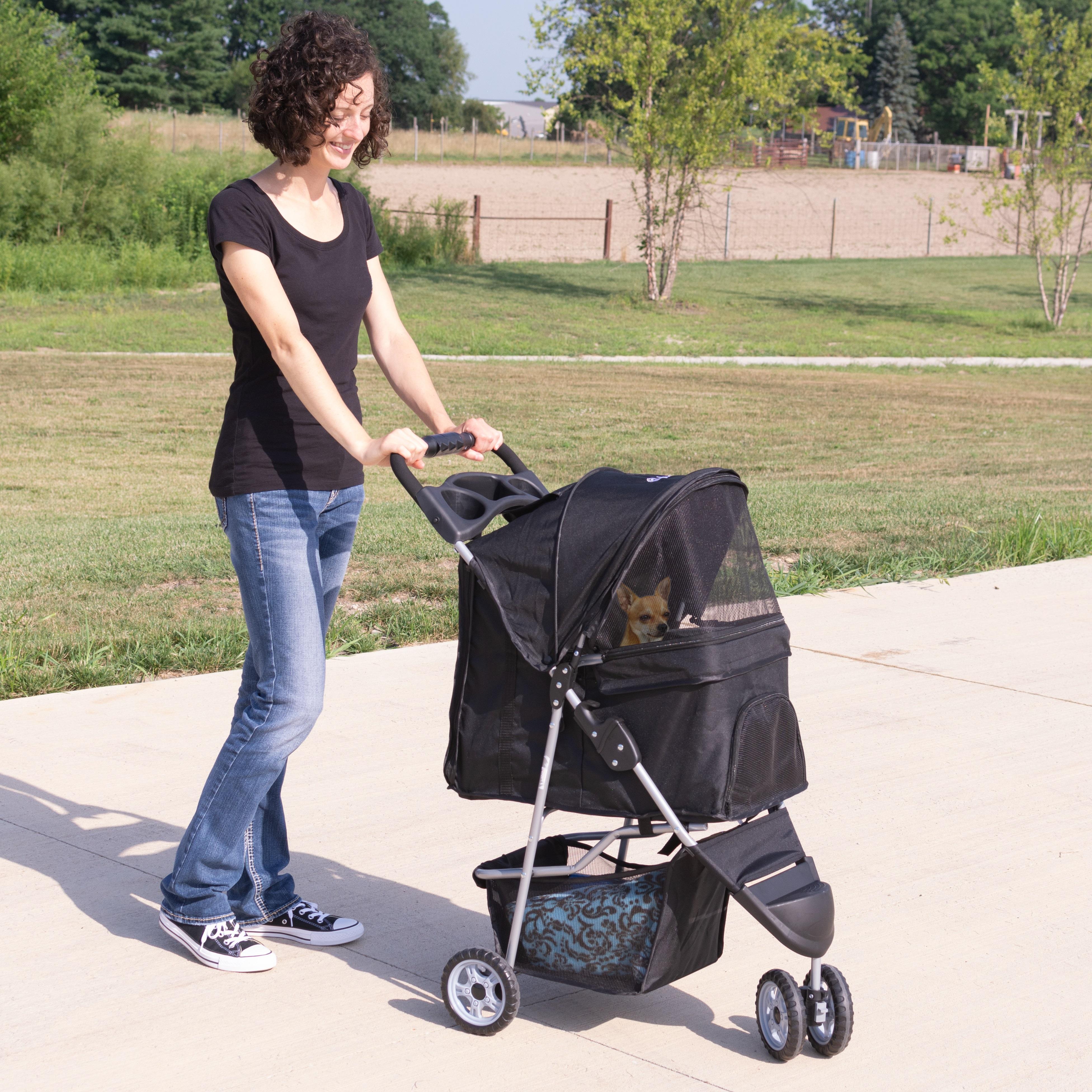 thumbnail 11 - VIVO Three Wheel Pet Stroller / Cat & Dog Foldable Carrier Strolling Cart