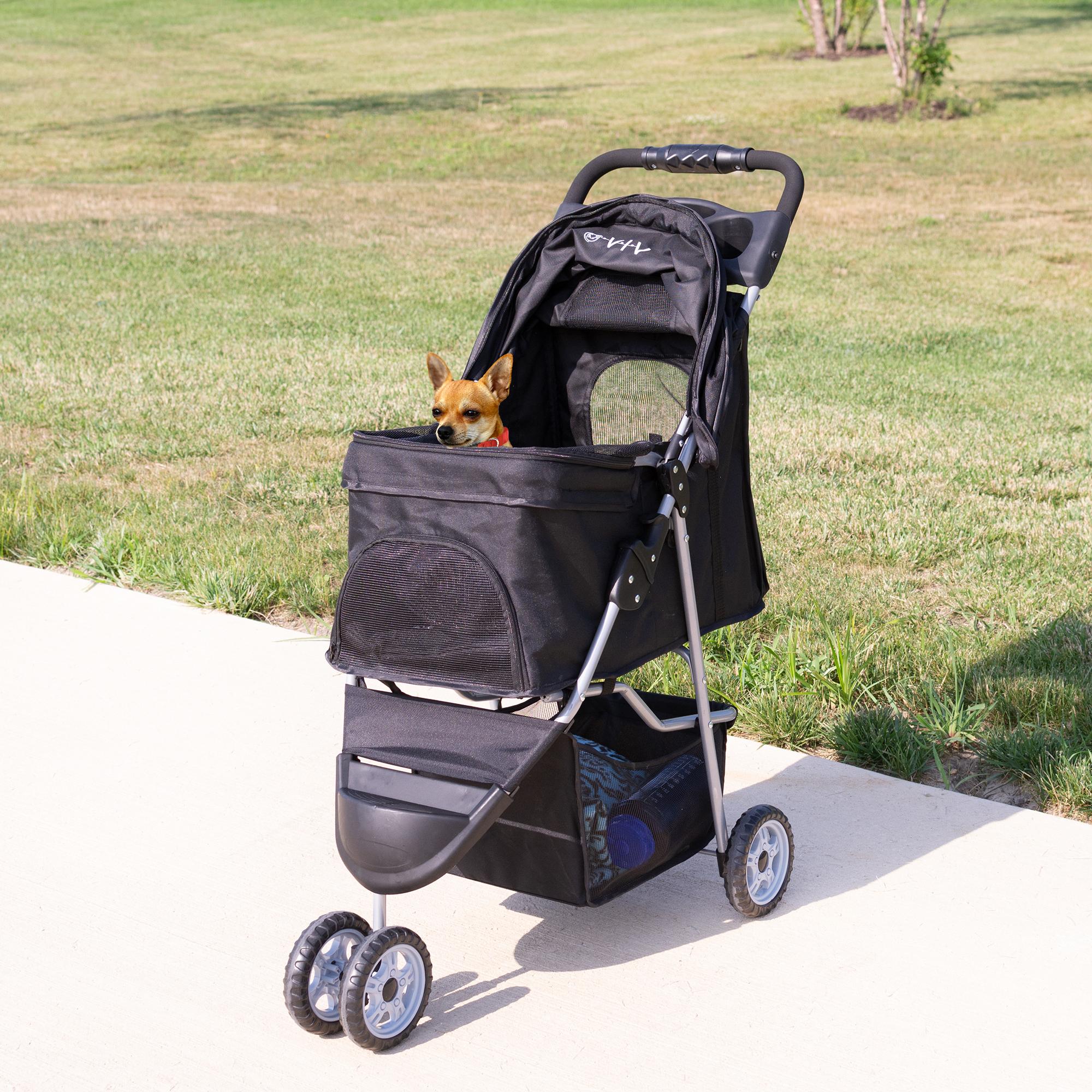 thumbnail 9 - VIVO Three Wheel Pet Stroller / Cat & Dog Foldable Carrier Strolling Cart