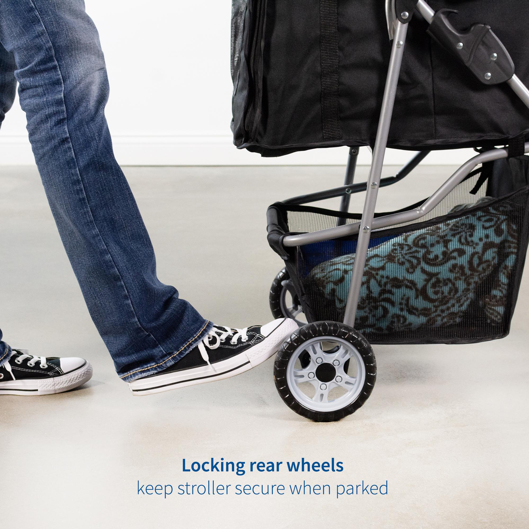 thumbnail 10 - VIVO Three Wheel Pet Stroller / Cat & Dog Foldable Carrier Strolling Cart
