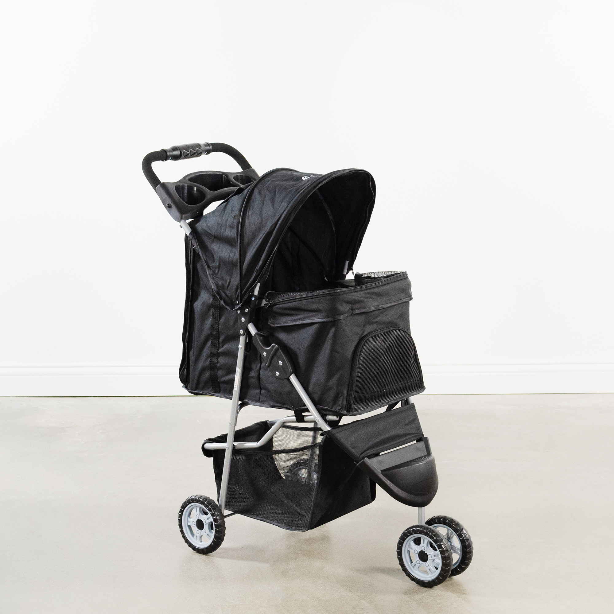 thumbnail 12 - VIVO Three Wheel Pet Stroller / Cat & Dog Foldable Carrier Strolling Cart