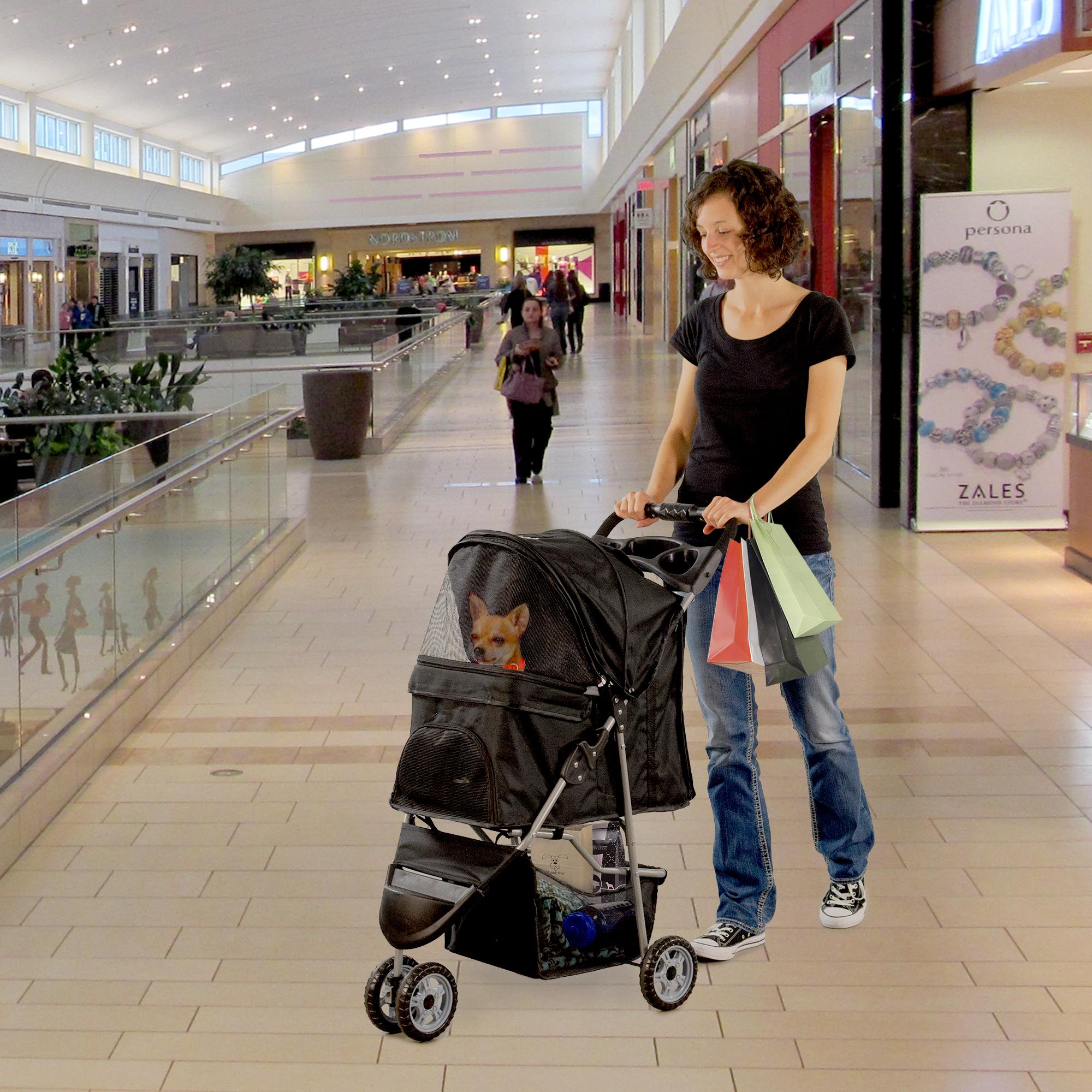 thumbnail 8 - VIVO Three Wheel Pet Stroller / Cat & Dog Foldable Carrier Strolling Cart