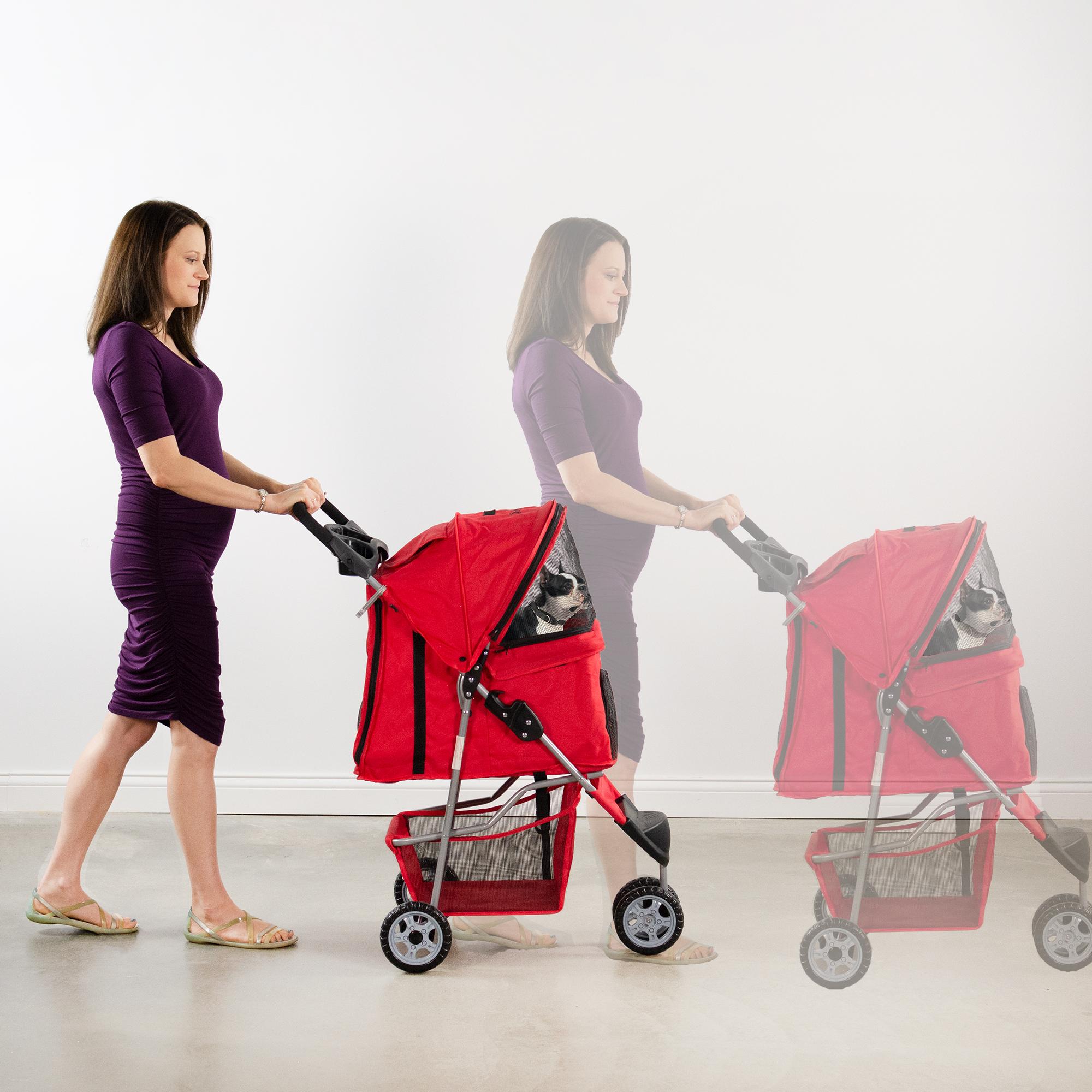 thumbnail 26 - VIVO Three Wheel Pet Stroller / Cat & Dog Foldable Carrier Strolling Cart