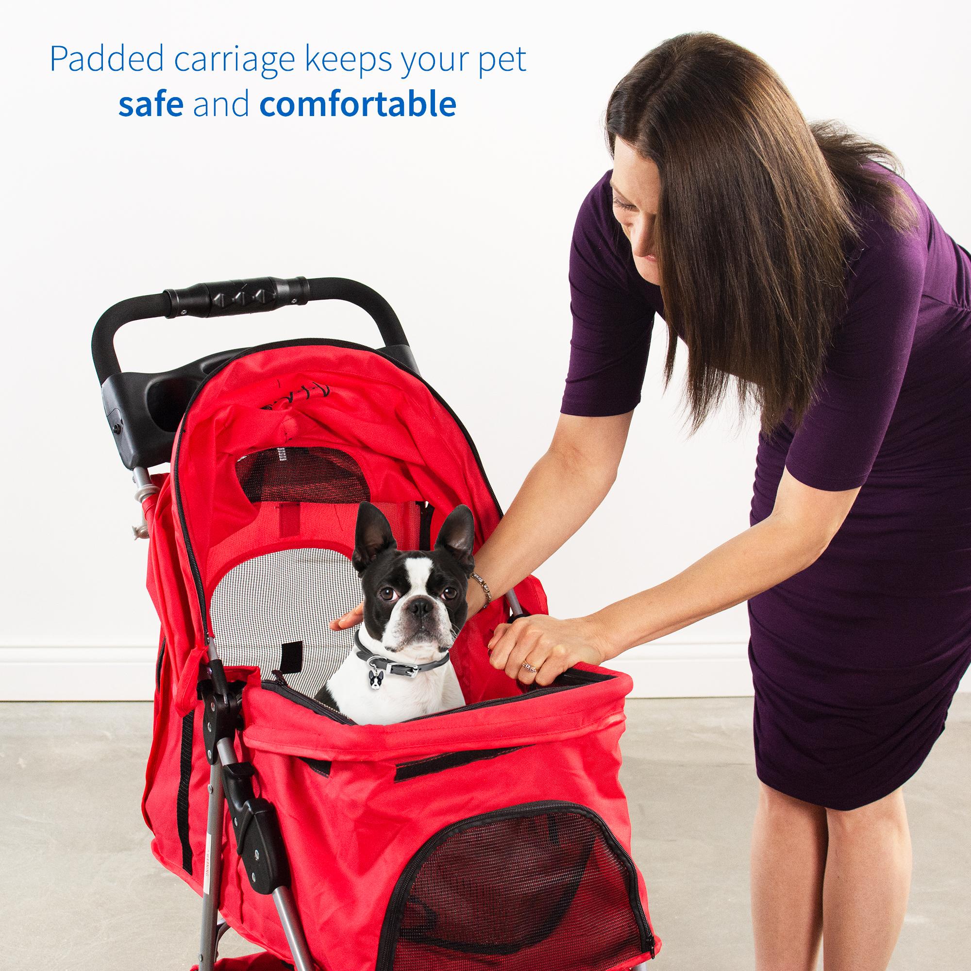 thumbnail 27 - VIVO Three Wheel Pet Stroller / Cat & Dog Foldable Carrier Strolling Cart