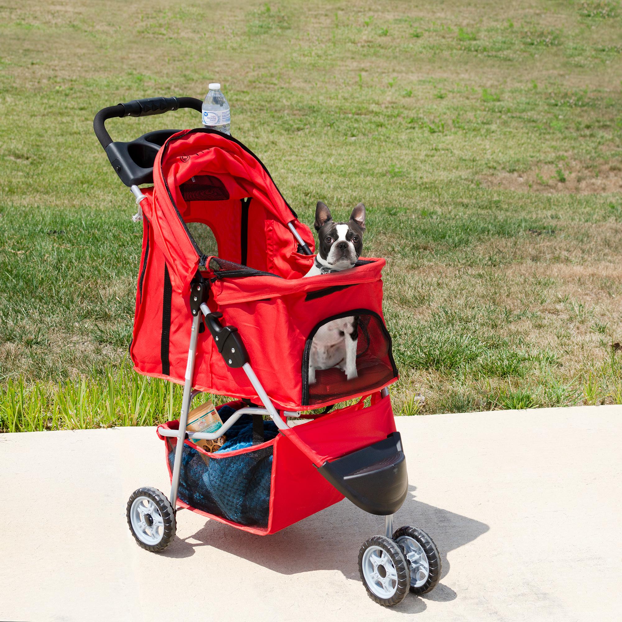 thumbnail 29 - VIVO Three Wheel Pet Stroller / Cat & Dog Foldable Carrier Strolling Cart