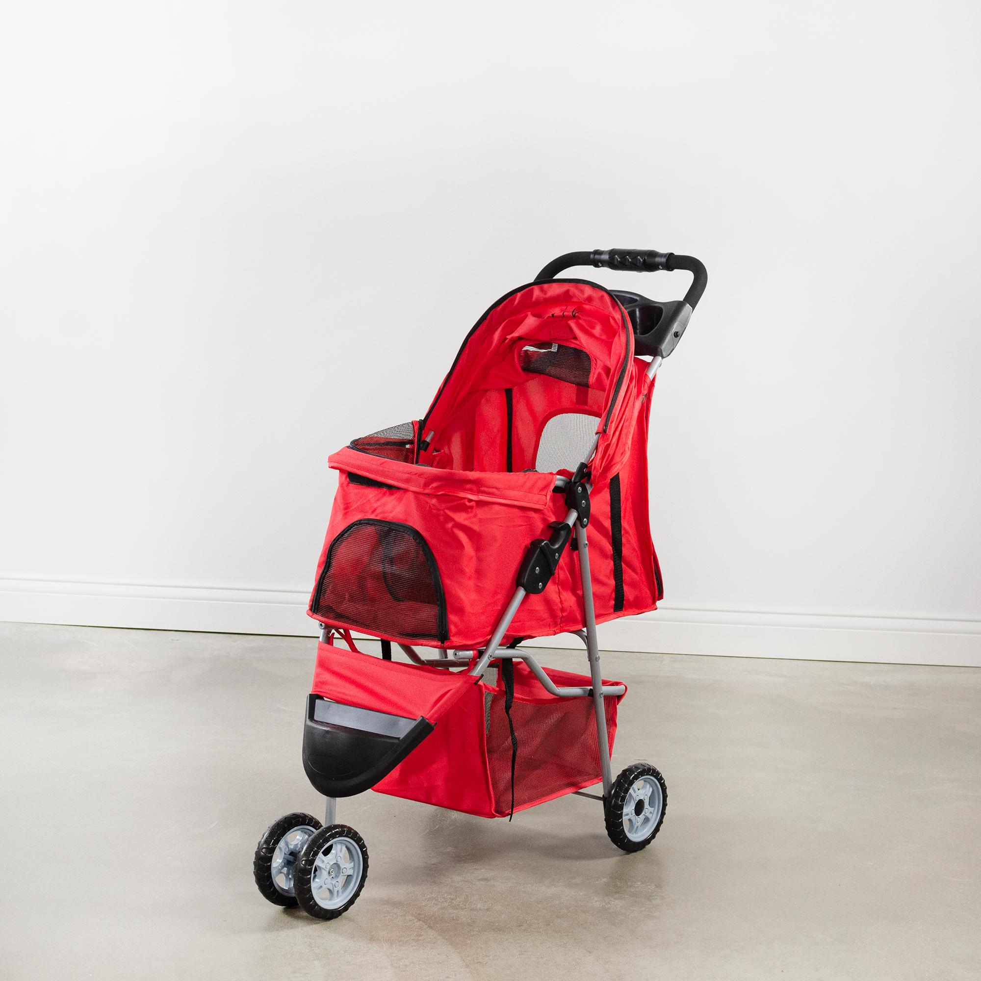 thumbnail 31 - VIVO Three Wheel Pet Stroller / Cat & Dog Foldable Carrier Strolling Cart
